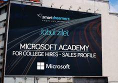 """Ești absolvent de studii superioare și te atrage să faci parte dintr-o organizație globală, care oferă nenumărate oportunități de dezvoltare personală și profesională? Aplică la Microsoft Academy, programul de internship pentru tinerii care """"visează inteligent"""". Detalii, pe SmartDreamers: http://smartdreamers.com/ro/job-Microsoft-Academy-for-College-Hires-Sales-Profile-MICROSOFT-ROMANIA-/2038/"""