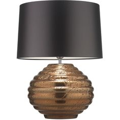 Zoffany Colmea Table Lamp - Copper (£494) ❤ liked on Polyvore featuring home, lighting, table lamps, lamps, metallic, copper lights, copper lamp, onyx lamp, light bulb shade and light bulb lamp