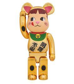 Medicom 100/% BEARBRICK ~ SKY Tree Lucky Cat Be@rbrick Maneki Neko Bianco vol 3