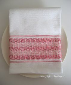 Serendipity Handmade: Swedish Weaving Vintage Towel Tutorial - Part Two