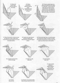 unicorn+origami+five. Origami And Kirigami, Origami Folding, Paper Crafts Origami, Diy Origami, Origami Unicorn Instructions, Origami Tutorial, Origami Guide, Origami Videos, Origami Dress