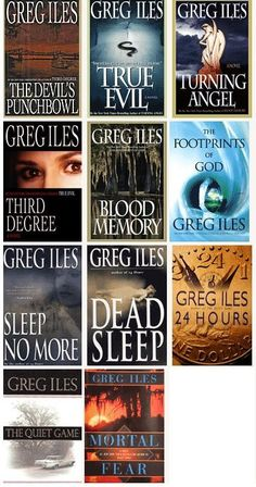 Love Greg Iles books...I've read most of these and enjoyed them. There are maybe three or four I have yet to read but I will. Greg Iles has not let me down yet. Excellent ability to keep you invested in turning the next page. The Devil's Punchbowl was superb.