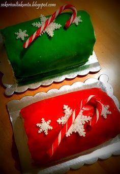 Joulunpunainen (ja vihreä ) kääretorttu