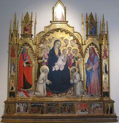 Sano di Pietro - Madonna col bambino e santi, predella con storie dei SS. Cosma e Damiano - Siena, Pinacoteca Nazionale