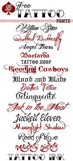 15 Free Tattoo Fonts