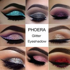 Phoera Glitter Powder Shimmering Colors Eyeshadow Metallic Eye Cosmetic Waterproof Ucanbe Paleta Sombras Focallure Ucanbe A2 Eye Shadow Beauty & Health