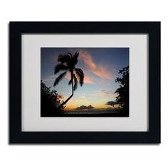 """Trademark Art """"Tropical Sunset"""" by Pierre Leclerc Framed Photographic Print"""