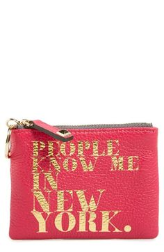 47ed40dbc Rebecca Minkoff 'Betty - People Know Me' Pouch available at #Nordstrom  Cosmetic Case