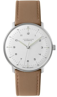Junghans Watch Max Bill Automatic #basel-15 #bezel-fixed #bracelet-strap-leather #brand-junghans #case-depth-10mm #case-material-steel #case-width-38mm #delivery-timescale-4-7-days #dial-colour-silver #gender-mens #luxury #movement-automatic #new-product-yes #official-stockist-for-junghans-watches #packaging-junghans-watch-packaging #style-dress #subcat-max-bill #supplier-model-no-027-3502-00 #warranty-junghans-official-2-year-guarantee #water-resistant-waterproof