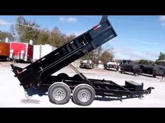 Heavy Duty Dump Trailer 7 X 12 With 2 ft. Sides - http://sleequipment.com/news/heavy-duty-dump-trailer-7-x-12-with-2-ft-sides/