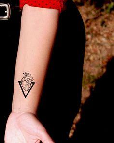 Cuore personalizzato tatuaggio Old School - tatuaggio temporaneo SomaArtTattoo - polso citazione tatuaggio corpo adesivo tatuaggio finto piccolo tatuaggio