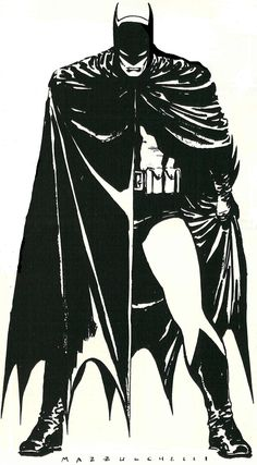 Menacing. Batman Year One, David Mazzucchelli