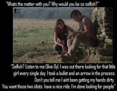 OMG LORI. Rick is a big boy. He can take care of himself. Stop f***ing everything up!