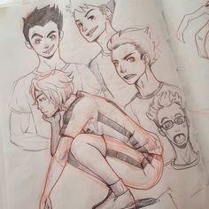 #sketch practice. Practicando hombres más masculinos. Jaja. by scarletadrianne