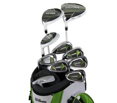 Product Insights.http://tinyurl.com/ml5pvxa WILSON ULTRA Womens Ladies Left Handed Complete Golf Club Set w/Bag - Lime Green.
