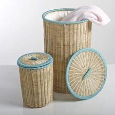 Set of 2 KOK Ozier Lidded Rattan Baskets La Redoute Interieurs - New Arrivals
