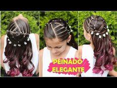 💕 Peinado fácil, elegante y rápido para niñas / Peinados fáciles y rápidos WILVITA - YouTube Communion Hairstyles, Cute Little Girl Hairstyles, Aesthetic Design, Cute Little Girls, Gorgeous Nails, Naturally Curly, Toddler Girl, Hair Beauty, Hair Accessories