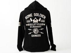 New Japan Pro-Wrestling - Bullet Club Zip Hooded Parker Jacket http://www.prowrestlingtees.com/bullet-club-parker.html