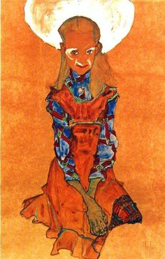 Poldi Lodzinsky, 1910  Egon Schiele