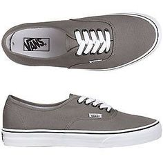 bee753952d VANS Men s Women s Shoes AUTHENTIC Pewter Black NWT