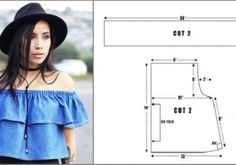 My Fashion World Schnittmusterkurse Schnittmusterkurse Blusas Crop Top, Crop Tops, Denim Crop Top, Blouse Patterns, Petunias, How To Do Nails, Wedding Bands, Sewing, Crochet
