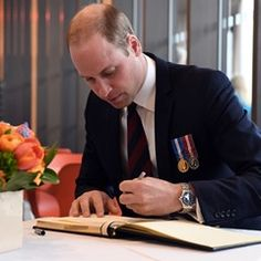 Prince William visits the official opening of a new Remembrance Centre