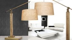 Flexible Light in industrial style with natural and wood tones