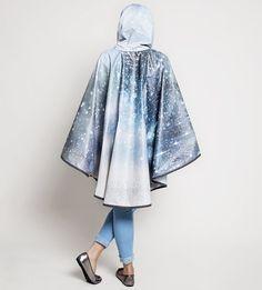 Sparkly Rain Drops Waterproof Poncho Cape - PonchU Walking Gear, Waterproof Poncho, Rain Poncho, Rain Drops, Cape, Kimono Top, Travel, Collection, Women