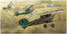 Aviation art prints featuring World War I aircraft