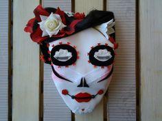 DIA DE LOS MUERTOS/CATRINA MEXICANA ROSAS ROJAS de DOITFORNELE por DaWanda.com