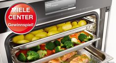 The Miele Combi-Steam oven may be the best oven in the world [Photo credit: Miele USA] Fresco, Best Oven, Mug Cakes, Oven Cooking, Oven Recipes, Healthy Recipes, How To Cook Pasta, Food Preparation, No Cook Meals