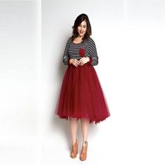 Plus Size Clothing for Women - Loey Lane High/Low Tutu - Burgundy (Sizes - - Society+ - Society Plus - Buy Online Now! Tulle Skirt Plus Size, Red Tulle Skirt, Plus Size Skirts, Red Skirts, Plus Size Outfits, Curvy Outfits, Modest Dresses, Summer Dresses, Halter Dresses