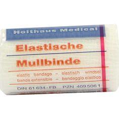 MULLBINDEN elastisch 6 cmx4 m:   Packungsinhalt: 1 St Binden PZN: 04095061 Hersteller: Holthaus Medical GmbH & Co. KG Preis: 0,43 EUR…