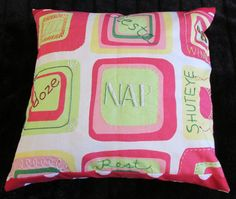 Decorator accent NAP pillow bright hand embroidered by paintallday