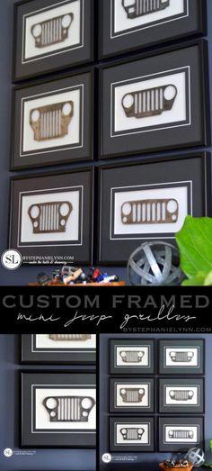 Custom Framed Mini Jeep Grilles #michaelsmakers