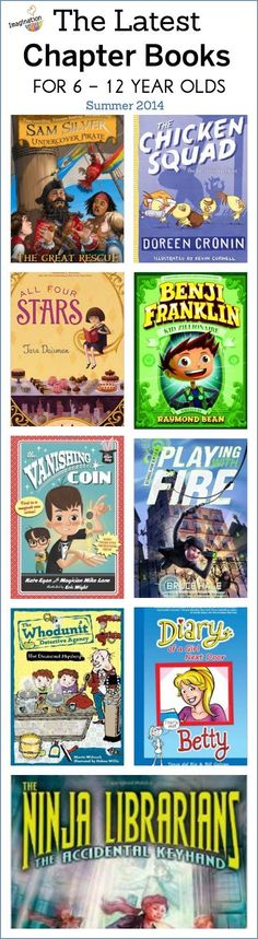 Chapter Books for Kids Ages 6 to 12 The latest chapter books for 6 to 12 year olds.The latest chapter books for 6 to 12 year olds. Kids Reading, Teaching Reading, Reading Lists, Reading Passages, Reading Resources, Reading Skills, Reading Comprehension, Learning, Library Lessons