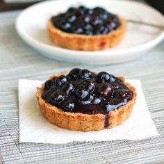 These fresh blueberry tarts have a deliciously textured homemade crust and are packed full of fresh blueberry filling.