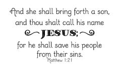 """March 2 - Matthew Bible Study  Matthew 1:21  """"Shall Call His Name Jesus"""" http://womenlivingwell.org"""