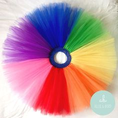 Rainbow Tutu Skirt | Girls Party Outfit / Fancy Dress / Photo Prop