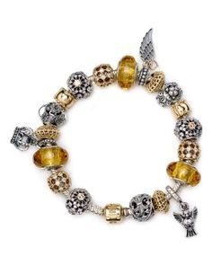 PANDORA Golden Splendor Bracelet, Moments Collection | Bloomingdale's
