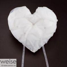 Ringkissen in Herzform in ivory von Weise