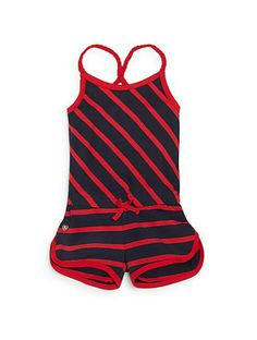 Hatley | Toddler Girl's Striped Short Jumpsuit | SAKS OFF 5