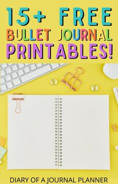 Get bullet journaling with these 15  completely free bullet journal printables! #bulletjournalprintables #freeprintables #bulletjournla Bullet Journal Bookshelf, Bullet Journal Dot Grid, Bullet Journal Hacks, Bullet Journal Printables, Journal Template, Templates Printable Free, Planner Ideas, Bullet Journal Inspiration, Book Journal