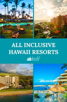 These kid-friendly resorts offer all-inclusive Hawaii packages for the whole family! Here are the best all-inclusive Hawaii resorts. Hawaii All Inclusive Resorts, All Inclusive Vacation Packages, All Inclusive Honeymoon, Hawaii Hotels, Vacation Resorts, Vacation Destinations, Vacation Spots, Hawaii Deals, Family Vacations