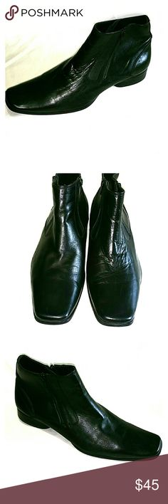 KENNETH COLE REACTION MEN'S ANKLE BOOTS SIZE. 11 M Pre-owned KENNETH COLE REACTION MEN'S ANKLE BOOTS Size :11 M Made in black leather upper. In very good condition  Please see pictures Kenneth Cole Reaction Shoes Boots