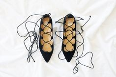 New In: Lace Up Flats