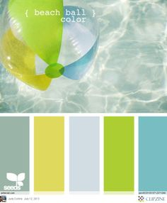 Beach ball hues - fun for a bathroom!