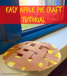 Paper plate apple pie craft for kids #fall