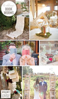 wedding ideas for book lovers, wedding book decor, readers wedding inspiration, Wouldn't it be Lovely