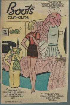 11-9-58 Boots paper doll / eBay